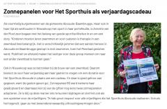 Nieuwsbericht Sporthuis