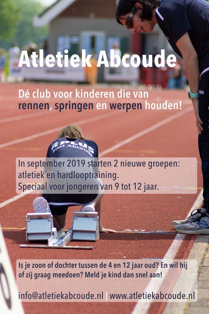 Poster Atletiek Abcoude seizoen 2019-2020